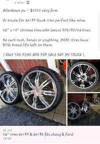 "26"" rims 6 lug chevy and ford"