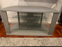 Rectangular glass-top tv stand Herndon, 20170