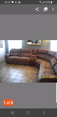 Electric 7 piece sectional. Modesto, 95355