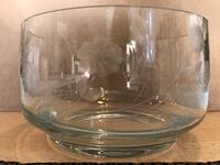 Glass etched bowl Bel Air, 21014
