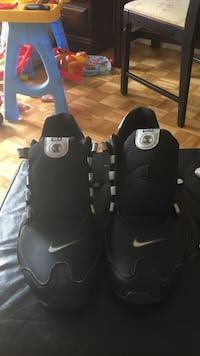 Pair of black and white nike athletic shoes Toronto, M5N