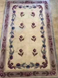 Sculpted Chinese wool rug