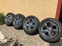 Set of four tires and wheels of 2018 Ram 1500 Big Horn.  16k miles Peoria, 85383