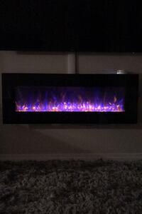 Modern LED Fireplace with Heater Reston, 20191