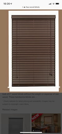 2 Faux wood blinds Fall River, 02720
