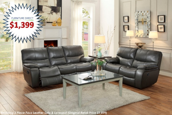 used 2 piece faux leather reclining sofa loveseat set for sale in rh tr letgo com