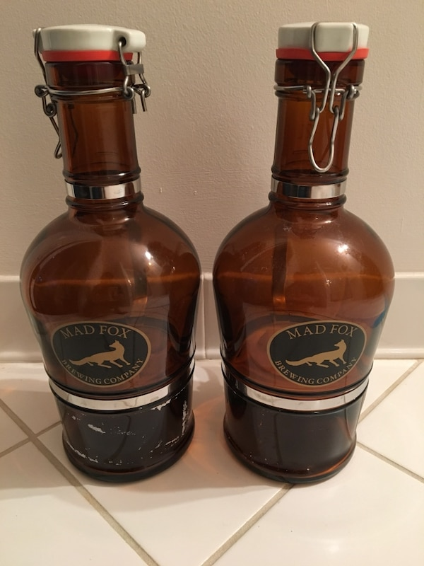 2 Glass Growlers