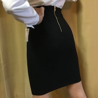 Black Pencil Skirt with Gold Zipper Paso Robles, 93446