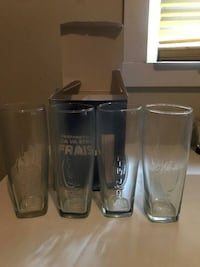 4 NEW NEVER USED LIMITED EDITION BUD LIGHT BEER GLASSES