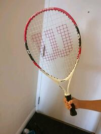 red and white tennis racket Mississauga, L5B 3Y7