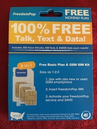 Freedompop sim card  Mc Lean, 22102