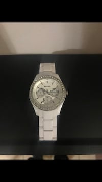 Women's white watch fossil