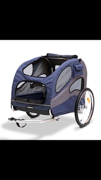 Blue and black dog trailer for bicycle or scooter Upland, 91784