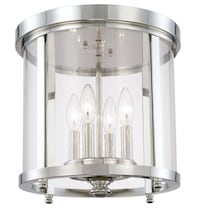 4-Light Ceiling Light in Polished Nickel  Red Bank