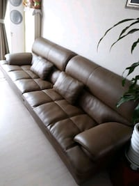tufted brown leather 3 인용 소파 Seoul, 158-070