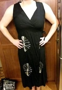 Black Wrap Around Summer Dress Devon, T9G 1H5