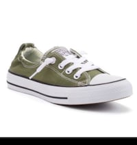 As new ~ authentic converse shoreline runners ~ green ~ women's 10