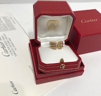 Cartier Double C Ring with diamonds in 3 gold Virginia Beach