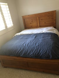 brown wooden bed frame with mattress Modesto, 95356