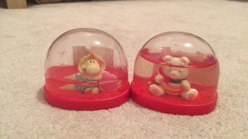 Both for $4 total. Heart snow globe