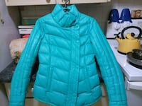 teal zip-up bubble jacket 549 km