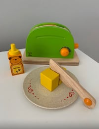 Hape Pop Up Toaster Wooden Play Kitchen Set with Accessories - $8