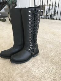 Black Leather Riding Boots.  Size 7 1/2 Odenton, 21113