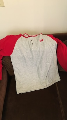 red and gray henly shirt