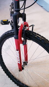 red and black hardtail bike Falls Church