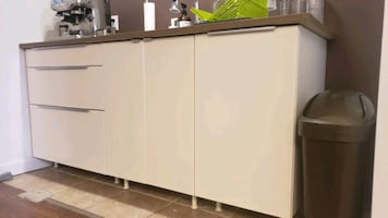IKEA Kitchen with Veddinge door , sink and counter top