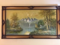 Brown wooden framed painting of trees Toronto, M3A 2S7