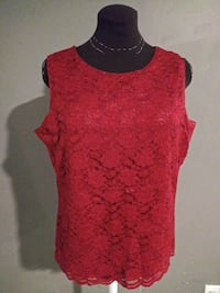 ***WOMEN'S LARGE RED LACE DRESS TANK TOP!***
