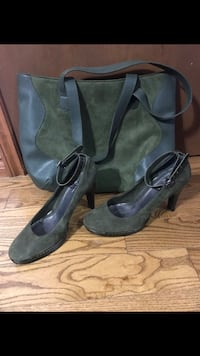 Linea Paolo Olive Green Heels and matching purse  Stoney Creek, L8E 4R5