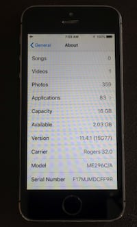Unlocked IPhone 5S (IOS 12) + Charger + 3 Cables (New Battery) Toronto