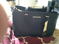 black Michael Kors leather tote bag Killeen, 76542