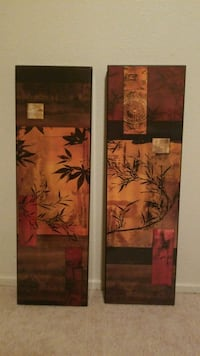 Japanese bamboo art wall decor