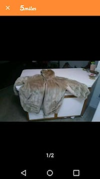 Reversible coat 100% leather and faux fur  Shreveport, 71106