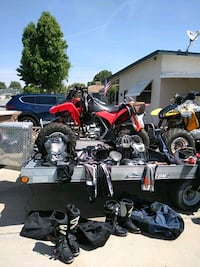 Quads, trailer and full gear.  Bakersfield, 93307