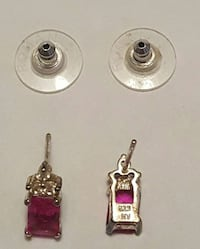 NEW! Sterling. 925 stamped pink stone pierced earr Lake Stevens, 98258