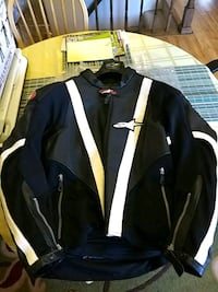 black and white full-zip jacket Sterling, 20165