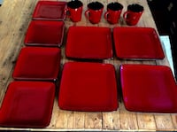 Red Rave Home Trends Dinnerware service for 4 Hampstead, 28443