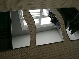 3 decorative mirrors for table