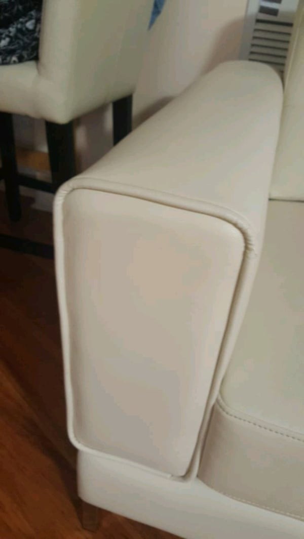 Used Myer Leather Look Fabric Sofa