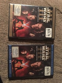 two assorted-title DVD movies Star Wars never been opened 15.00 each Dollard-des-Ormeaux, H8Y 3B8
