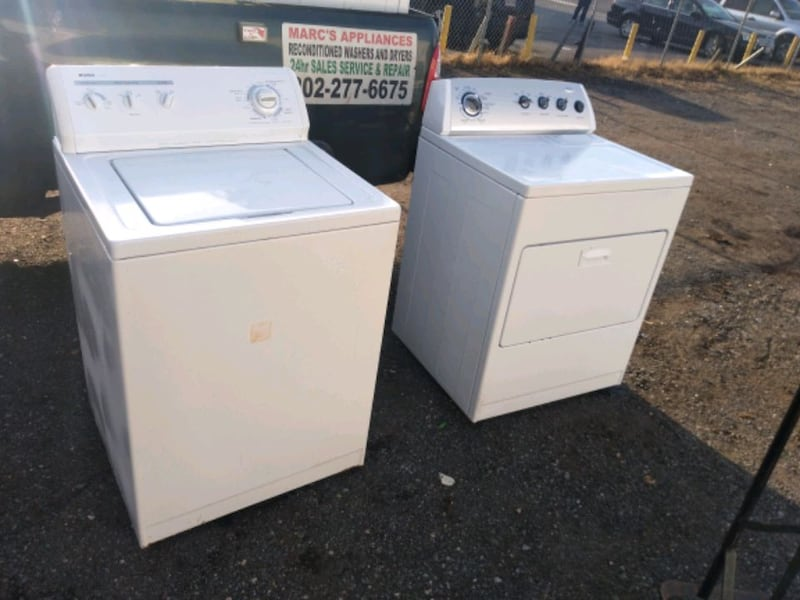 Whirlpool heavy duty washer and dryer set works good 6 month warranty 4a28fb4c-4cad-49c2-a5c0-b84c99548140