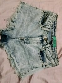 women's blue denim short shorts 462 km