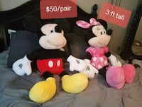 large mickey and minnie mouse stuffed animals
