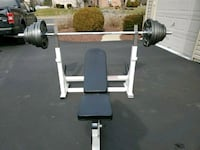 Olympic weight set bench has some scratches but very sturdy  Macungie, 18062