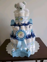 Diaper Cake for Baby Boy,  made and ready to sell
