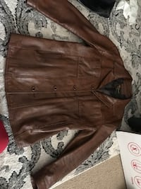 Brown leather zip-up jacket-Mens Hillsboro, 97123